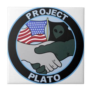 UFO PROJECT PLATO 5 PATCH ALIEN SECRET BASE CERAMIC TILE