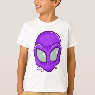 UFO Purple Alien Martian Head Cute T-Shirt