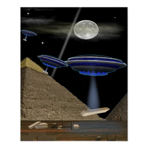 UFO pyramid Builders Print