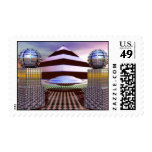UFO Pyramid Postage Stamps