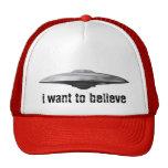 UFO, quiero creer Gorras