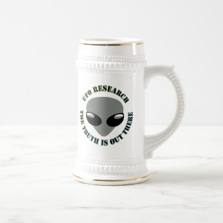 UFO Research, The Truth Is Out There Beer Stein