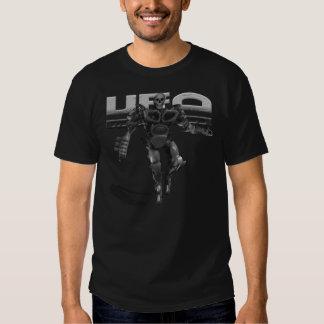 UFO robot Science fiction alien skulls t-shirt