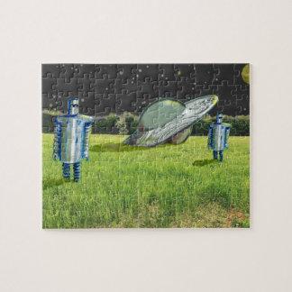 UFO ROBOTS CRASH by Jetpackcorps Jigsaw Puzzle