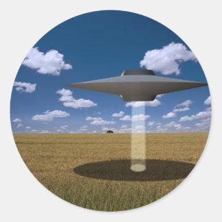 UFO ROUND STICKER