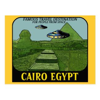 UFO S OVER CAIRO EGYPT TRAVEL DESIGN POST CARD
