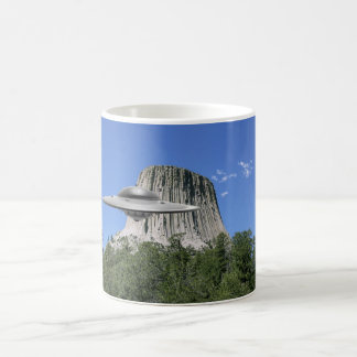 UFO Salamander at Devils Tower Classic White Coffee Mug