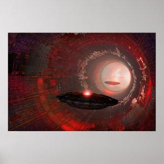 UFO secret base Poster