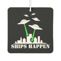 UFO Ships Happen Air Freshener