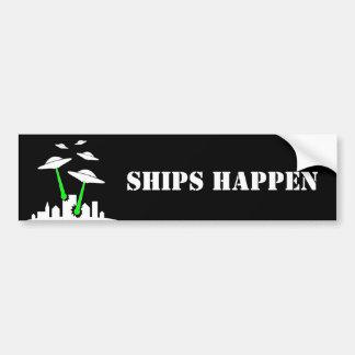 UFO Ships Happen Bumper Stickers