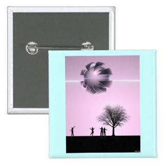 UFO Sighting 2 Inch Square Button