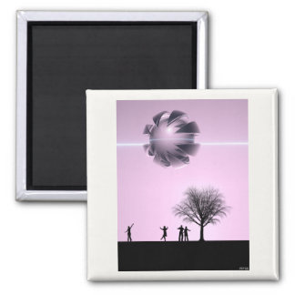 UFO Sighting 2 Inch Square Magnet