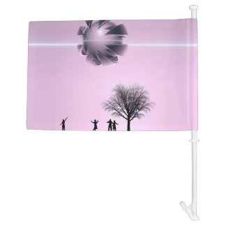 UFO Sighting Car Flag