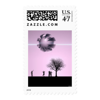 UFO Sighting Postage