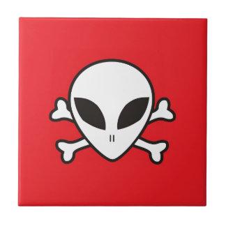 UFO skull Tile