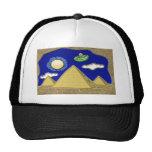 UFO sobre Egipto Gorros Bordados