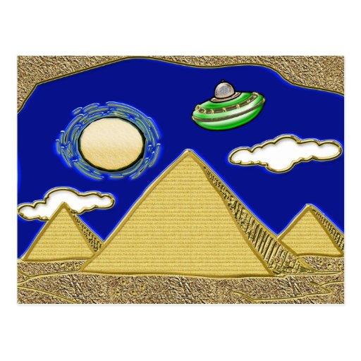 UFO sobre Egipto Tarjeta Postal