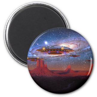 UFO sobre el imán del valle del monumento