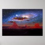 UFO sobre el valle del monumento Impresiones