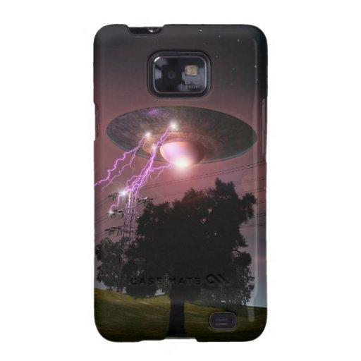 UFO sobre la caja de las líneas eléctricas 2 Galaxy SII Fundas