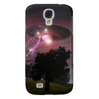 UFO sobre la caja de las líneas eléctricas 2