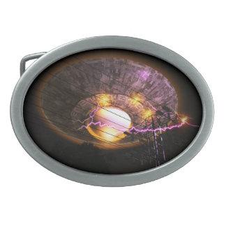 UFO sobre la hebilla del cinturón de las líneas el Hebillas De Cinturón Ovales