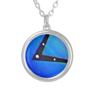 UFO Space Ship Silver Plated Necklace