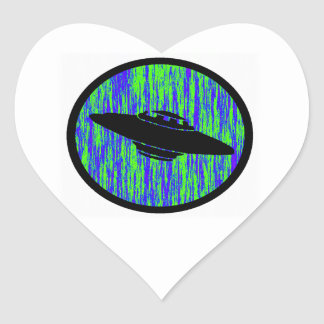 UFO STATIC FREQUENCY HEART STICKERS