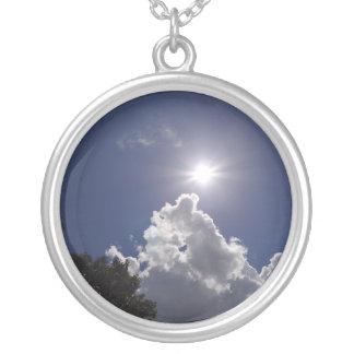 UFO Sunburst Fluffy White Clouds Necklaces