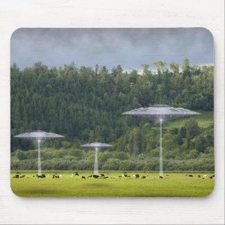 UFO Three Saucers Mousepad