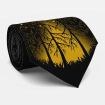 UFO Tie Alien Spaceship Neckties Flying Saucer Tie