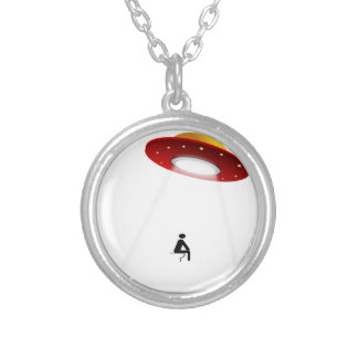 UFO Toilet Personalized Necklace