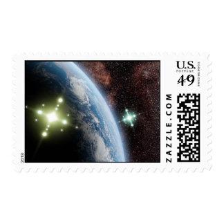UFO US postage stamp