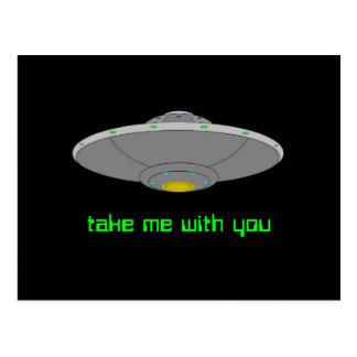 UFO - Voluntary Abduction Postcard
