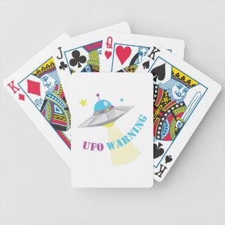 UFO Warning Bicycle Playing Cards