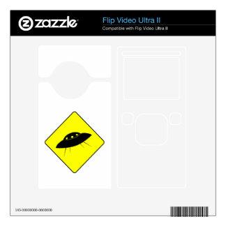 UFO Warning Sign Flip Video Ultra II Decal