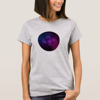 UFO Watercolor style Alien circle T-Shirt