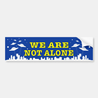 UFO We are not alone decal with ET spacecraft