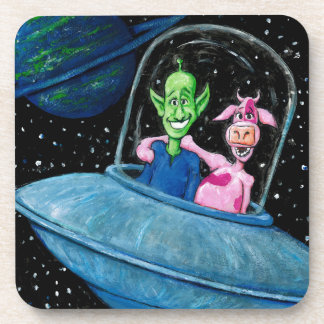 UFO with Martian and Cow Coaster