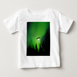 UFO with Northern Lights Baby T-Shirt