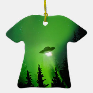 UFO with Northern Lights Ornaments