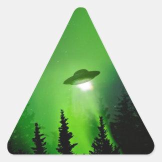 UFO with Northern Lights Triangle Sticker