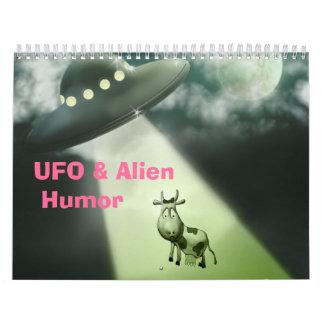 UFO y calendario extranjero del humor