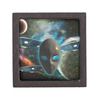UFO y extranjero Caja De Joyas De Calidad