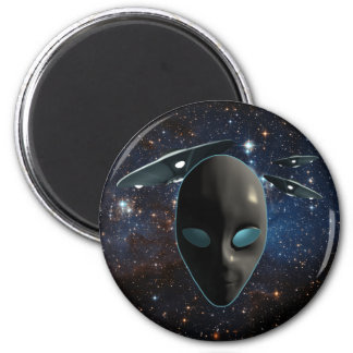 UFOs and Aliens 2 Inch Round Magnet