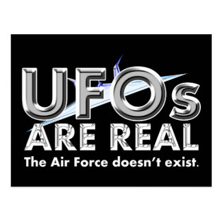 UFOs Are Real Postcard