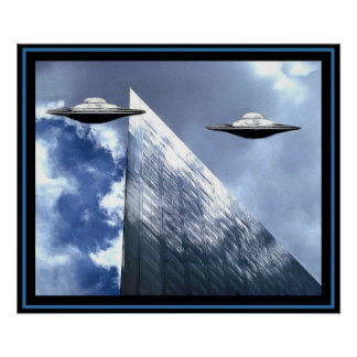 UFOs - City Skies Poster