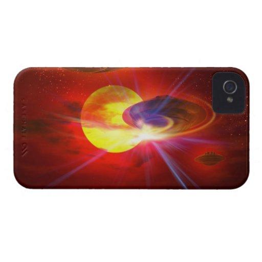 UFOs de cernido Case-Mate iPhone 4 Protectores