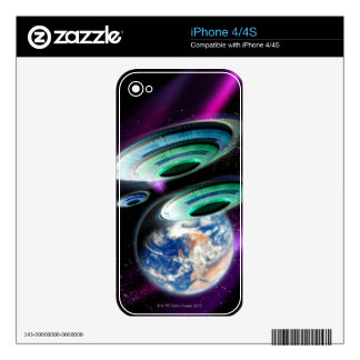 UFOs Decals For The iPhone 4S