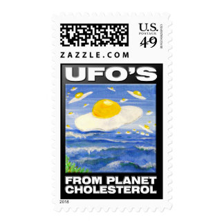 UFO'S From Planet Cholesterol Stamp